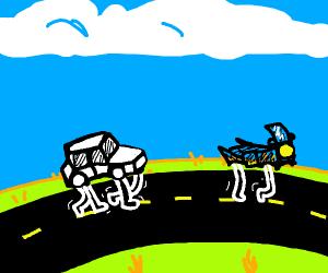 walking cars