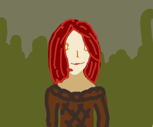 Happy Red Haired Girl