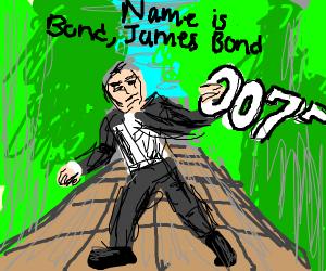 James Bond vs a literal 007