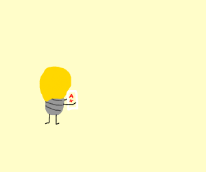 Light bulb gets A+