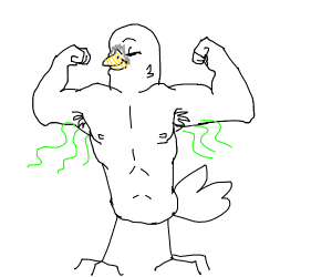 A buff seagull with smelly armpits