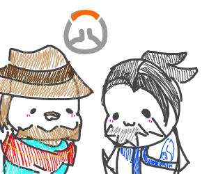 Mccree And Hanzo (Overwatch)