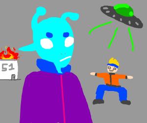 Aliens escape area 51
