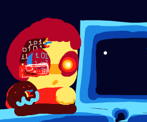 Cyborg hacks into the System