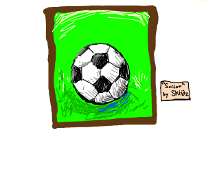 A Soccer Ball Painting
