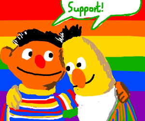 Bert and Ernie support gay rights