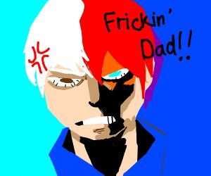 Shoto Todoroki hating his dad