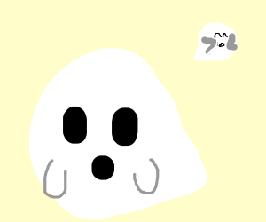 A Mario King Boo Ghost Not King Boo Drawing By Hihihihihihibye