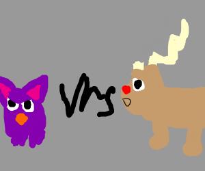 Furby vs. reindeer