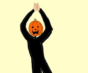 Pumpkin dance spooky scary skeletons