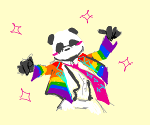 panda coming out as gay (YASSS QUEEN