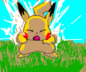 Pikachu attempts to use Thunderbolt!