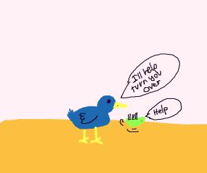 Bird helps Bug