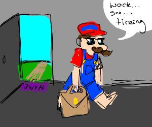 Mario doing his job