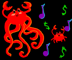 Crabsquid. Music. Money. Crab.