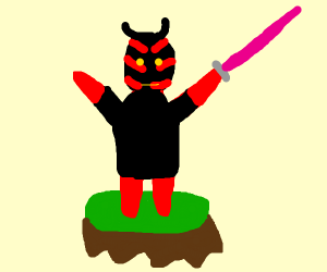 Darth Maul has the high ground