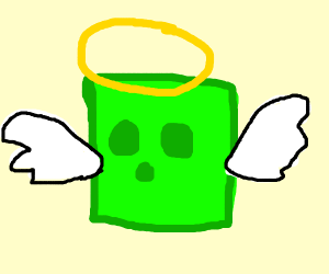 a minecraft slime is an angel
