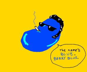 cool blue jelly bean
