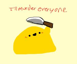 Yellow blob has killed you