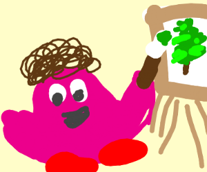 kirby paints a happy little tree
