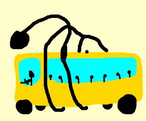 Elastiguy highjacks schoolbus
