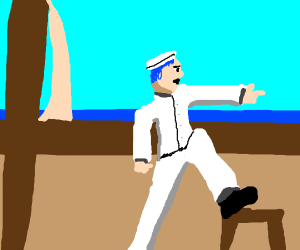 Blue Haired Sailor Man