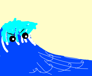 the water wave ANGERY