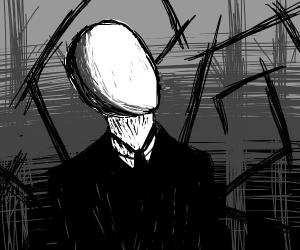 Slender Man  contemplates life