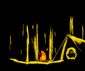 Camp, night 33: I wish for company currently.
