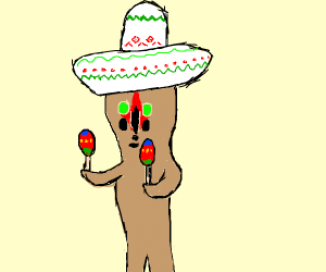 SCP-173 with a sombrero