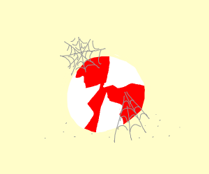 peppermint covered in cobwebs