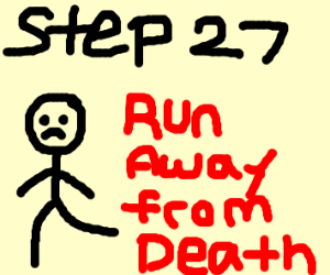 Step 26: Be shot by the country's army