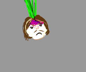 Arin from game grumps but as a angry turnip