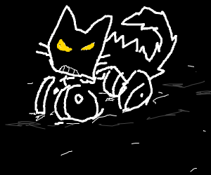 aggressive cat monster truck