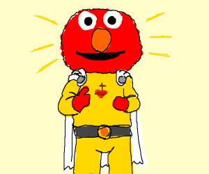 Elmo is Saitama & God