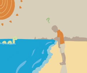 man questions something farther into the sea