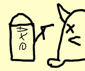 Axe kills a furby