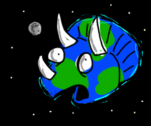 The Earth is a Triceratops