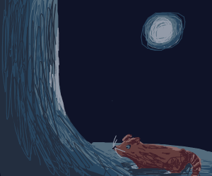 A Rat at a night forest.