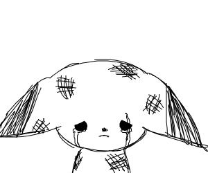 blacknwhite pikachu was mistreated/beaten up