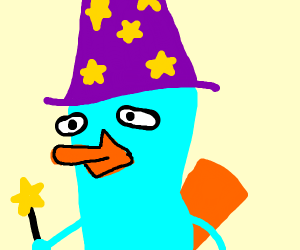 Perry the Platypus is now a wizard