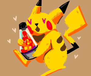 Pikachu loves his lava lamp
