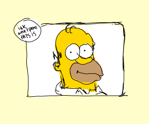 Homer in a Drawception panel