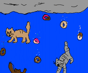 It's raining cats and... donuts?