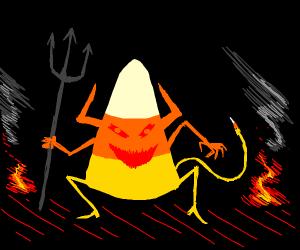 Candy corn devil
