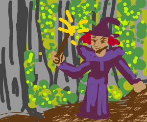 witch in a forest
