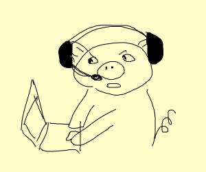 gamer pig