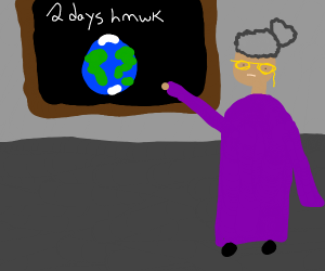 Homework topic is planet