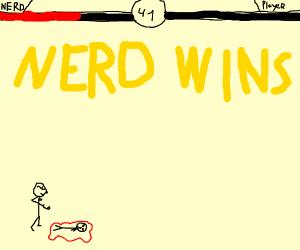 nerd wins at mortal combat