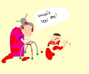 grandma kills someone